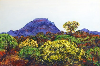 (CreativeWork) MOUNT BRUCE, (PUNURRUHA), KARIJINI NATIONAL PARK. W.A. by John Darcey. other-media. Shop online at Bluethumb.