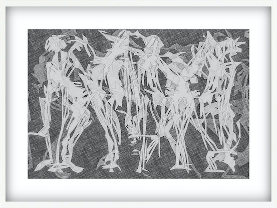 (CreativeWork) 'The Marriage Dance'  Mardi Gras Limited Edition print 42cm x 32cm  Ed. 1 of 75 by George Hall. Print. Shop online at Bluethumb.