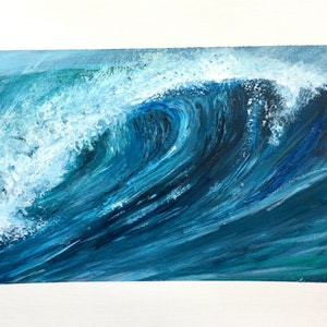 (CreativeWork) Breaking Wave by Adelin Hill. arcylic-painting. Shop online at Bluethumb.
