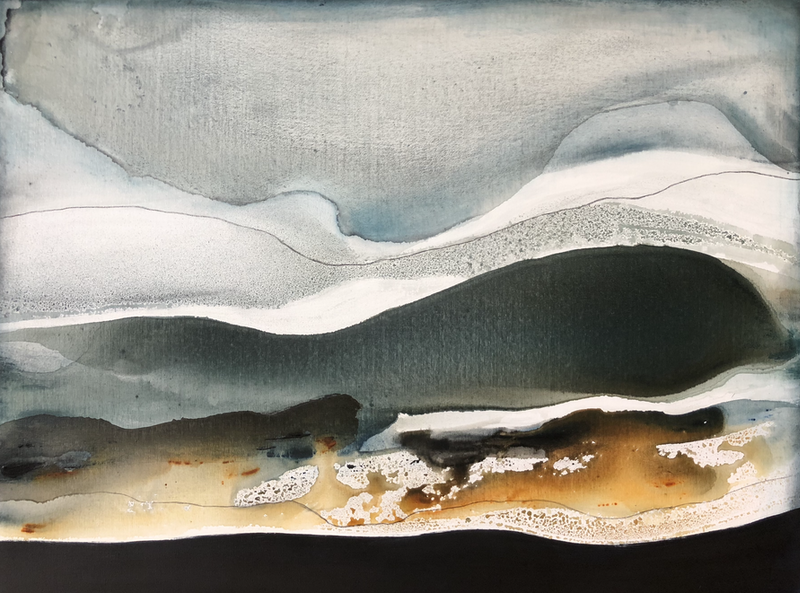 (CreativeWork) Moonlight on the Ocean by Dinah Wakefield. arcylic-painting. Shop online at Bluethumb.