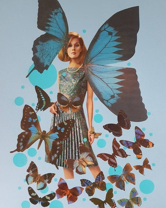 (CreativeWork) 'Blue Butterfly -#1 ' by Karen Coull. #<Filter:0x00007f4448112018>. Shop online at Bluethumb.