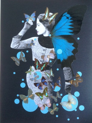 (CreativeWork) 'Blue Butterfly -#2'   by Karen Coull. #<Filter:0x0000559620aa5d28>. Shop online at Bluethumb.