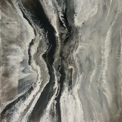 (CreativeWork) Silver Lining by Martine Vanderspuy. resin. Shop online at Bluethumb.