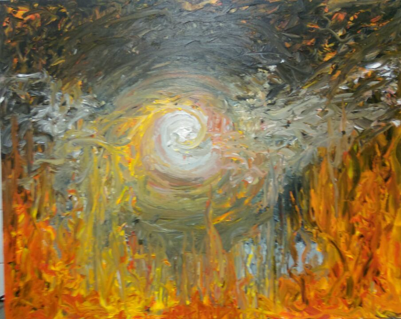 (CreativeWork) Flamma by Nick Briels. arcylic-painting. Shop online at Bluethumb.