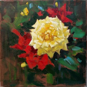 (CreativeWork) Flower-2018-1 by Yuan Fu. oil-painting. Shop online at Bluethumb.
