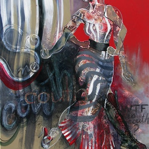 (CreativeWork) So couth No couth by De Gillett Cox. arcylic-painting. Shop online at Bluethumb.