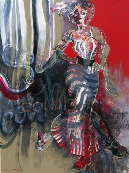 (CreativeWork) So couth No couth by De Gillett. arcylic-painting. Shop online at Bluethumb.
