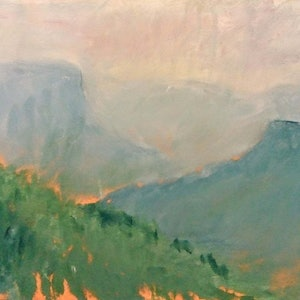 (CreativeWork) still valley by Matthew Simmons. oil-painting. Shop online at Bluethumb.