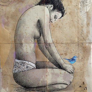 (CreativeWork) BREAK FREE by loui jover. drawing. Shop online at Bluethumb.