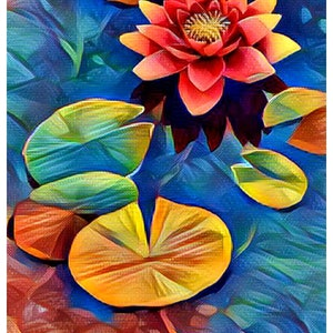 (CreativeWork) Water Lilies 3 Ed. 1 of 25 by Isabelle Caille. print. Shop online at Bluethumb.