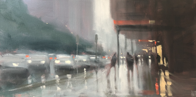 (CreativeWork) Flinders Rain by Mike Barr. arcylic-painting. Shop online at Bluethumb.