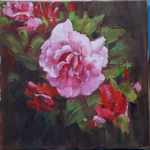 (CreativeWork) Flower-2018-2 by Yuan Fu. oil-painting. Shop online at Bluethumb.