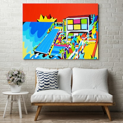 (CreativeWork) Bondi Beach -  Sydney by Bruno Mota. Acrylic Paint. Shop online at Bluethumb.