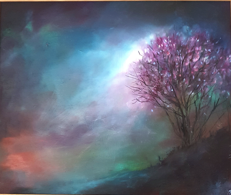 (CreativeWork) Better Days to Come  by Fae Ballingall. oil-painting. Shop online at Bluethumb.