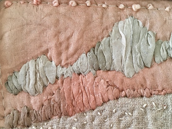 (CreativeWork) Pink Landscape by Paula Koert-Bain. Mixed Media. Shop online at Bluethumb.
