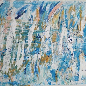 (CreativeWork) The Brush of Winter by Becky Thornton. arcylic-painting. Shop online at Bluethumb.