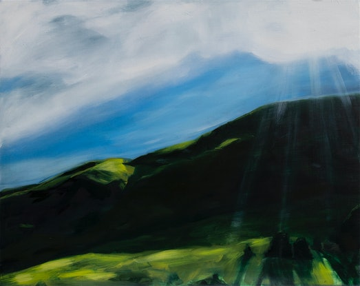 (CreativeWork) On the ascent by Alicia Douglas. Oil Paint. Shop online at Bluethumb.