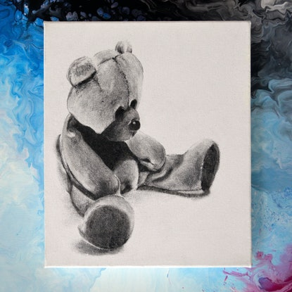 (CreativeWork) Sleepy Teddy by Jacquie Hughes. #<Filter:0x000055c8413c31d8>. Shop online at Bluethumb.