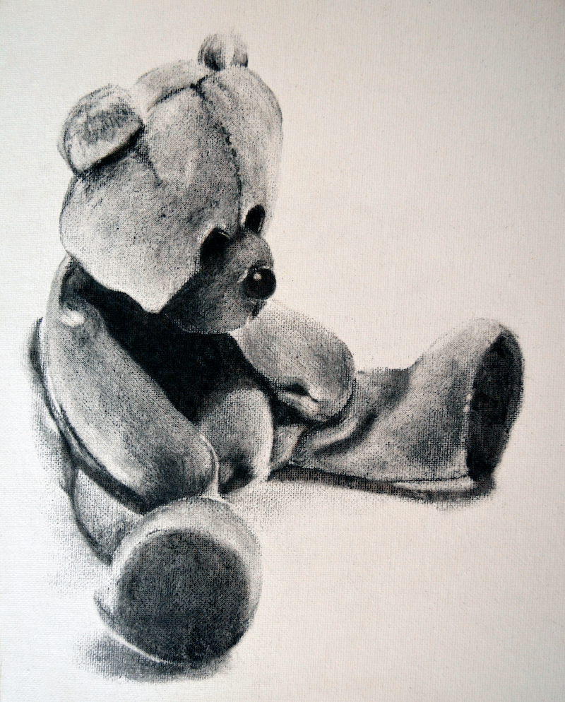 (CreativeWork) Sleepy Teddy by Jacquie Hughes. drawing. Shop online at Bluethumb.