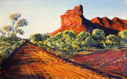 (CreativeWork) SUNRISE DRIVE KENNEDY RANGES NATIONAL PARK, GASCOYNE REGION by John Darcey. other-media. Shop online at Bluethumb.