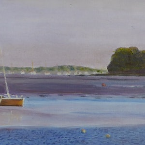 (CreativeWork) At Anchor, Evening by Robin Tunnicliffe. #<Filter:0x00007fc1b8995d78>. Shop online at Bluethumb.