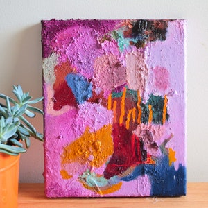 (CreativeWork) The Power of Pink by Tanya Sinha. mixed-media. Shop online at Bluethumb.