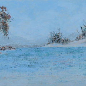 (CreativeWork) Monday at the Beach by Wendy Galloway. arcylic-painting. Shop online at Bluethumb.