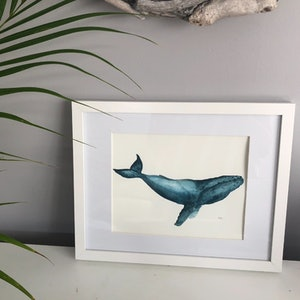(CreativeWork) Whale whale whale  by Miss Rose. watercolour. Shop online at Bluethumb.