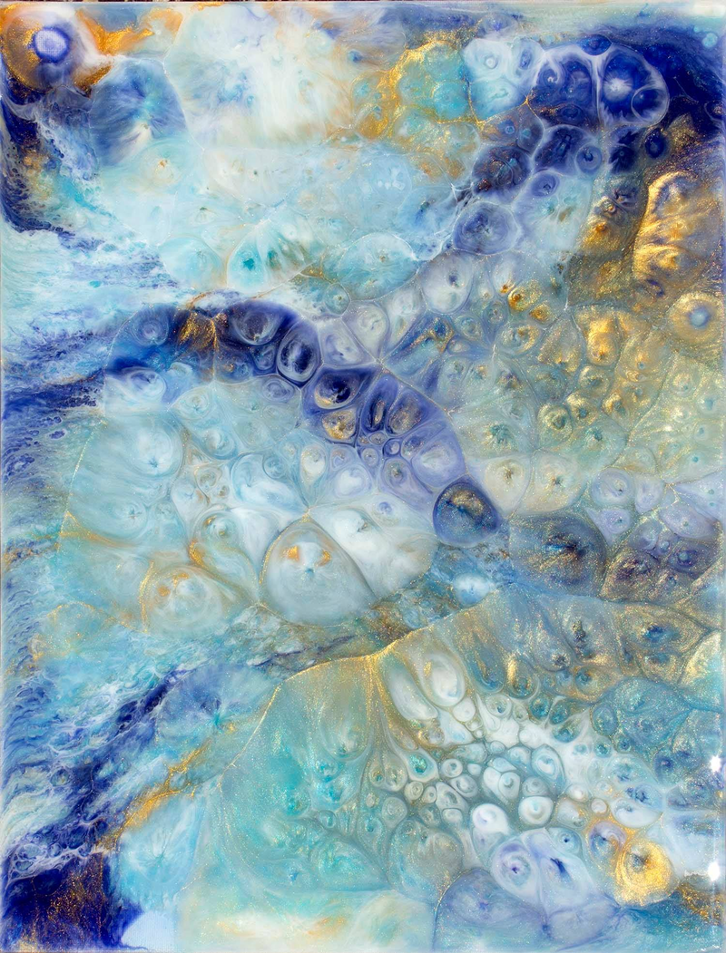 (CreativeWork) Creation by Gayle Reichelt. resin. Shop online at Bluethumb.