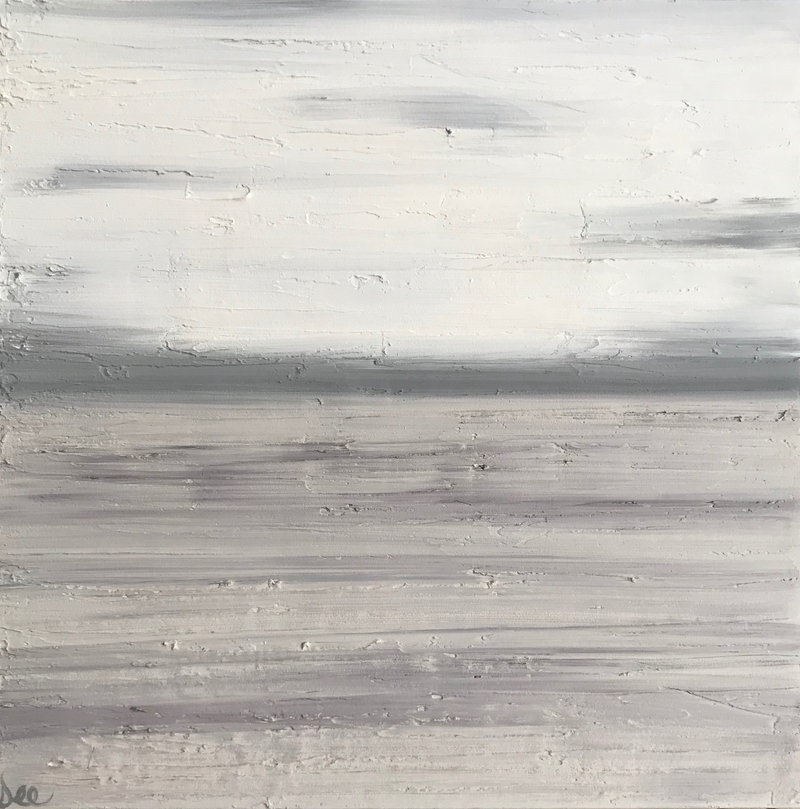 """(CreativeWork) ORIGINAL ABSTRACT ART PAINTING ON STRETCHED CANVAS  """"OVERCAST""""   CREAM SAND GREY 1099 by Debra Ryan. mixed-media. Shop online at Bluethumb."""