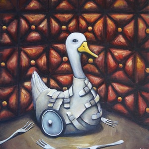 (CreativeWork) Well Grounded Insanity by Tank .. oil-painting. Shop online at Bluethumb.