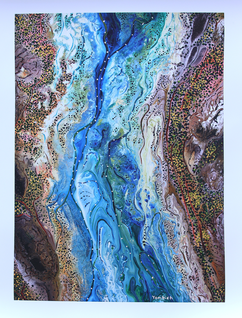 (CreativeWork) Burlong Pool by Bradley Kickett. other-media. Shop online at Bluethumb.