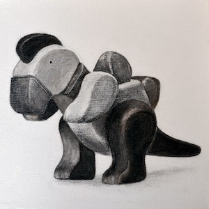 (CreativeWork) Little Wooden Toy by Jacquie Hughes. drawing. Shop online at Bluethumb.