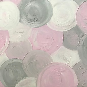 "(CreativeWork) ORIGINAL ABSTRACT ART PAINTING ON STRETCHED CANVAS ""MARSHMALLOW"" TEXTURED PASTEL PINK GREY GRAY  WHITE  -117 by Debra Ryan. mixed-media. Shop online at Bluethumb."