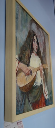 (CreativeWork) Vintage Lute by Lorraine Lewitzka. Other Media. Shop online at Bluethumb.