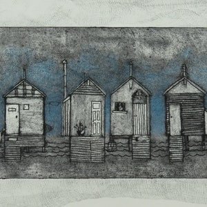 (CreativeWork) Beach Boxes 1 Ed. 1 of 1 by Wendy Galloway. print. Shop online at Bluethumb.