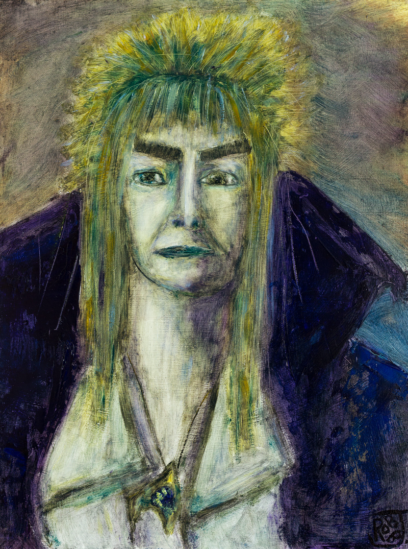 (CreativeWork) Labyrinth Bowie by Jill Robb. oil-painting. Shop online at Bluethumb.