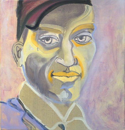 (CreativeWork) Mystery Man by Carla Foster. Oil Paint. Shop online at Bluethumb.