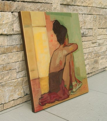 (CreativeWork) Rehearsal by Tetyana Khytko. Oil Paint. Shop online at Bluethumb.