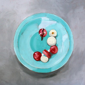 (CreativeWork) Panna cotta Commission I by Sandra Jenkins. oil-painting. Shop online at Bluethumb.