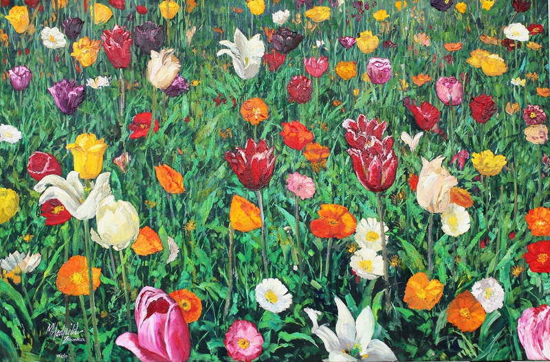 (CreativeWork) FLORIADE STUDY by Margaret HADFIELD. Oil Paint. Shop online at Bluethumb.
