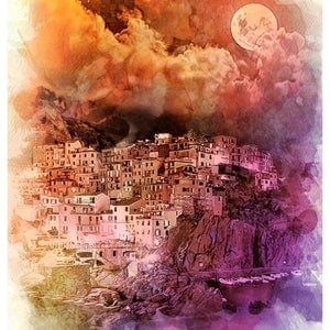 (CreativeWork) La Luna Ed. 1 of 25 by Isabelle Caille. print. Shop online at Bluethumb.