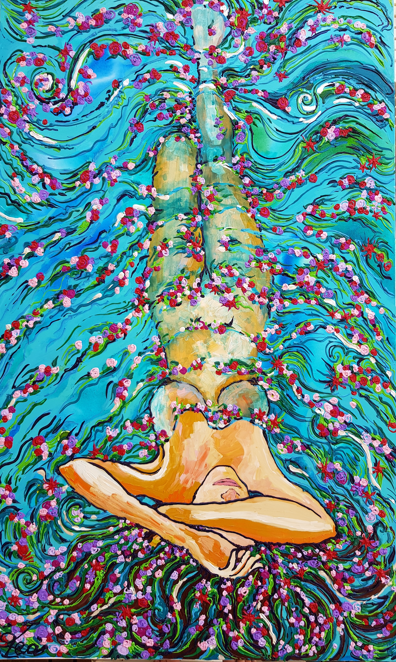 (CreativeWork) Rise by Tea Ercoles. arcylic-painting. Shop online at Bluethumb.