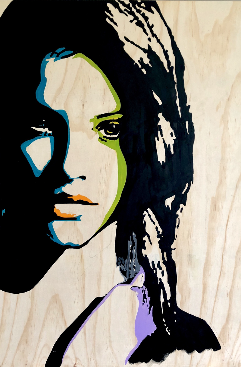 (CreativeWork) Miss Palvin by Simon McCullough. arcylic-painting. Shop online at Bluethumb.
