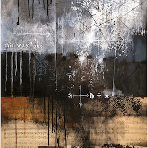 (CreativeWork) COMPOSITION NO. 162 [ THIS WAY OUT ] 2018 by G Kustom Kuhl. mixed-media. Shop online at Bluethumb.