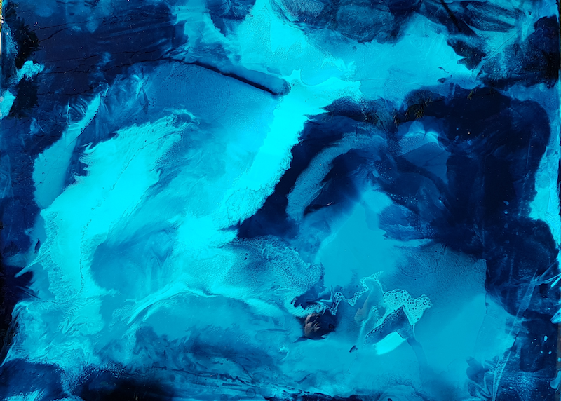 (CreativeWork) Turquoise Bay by Jessica Taylor. resin. Shop online at Bluethumb.