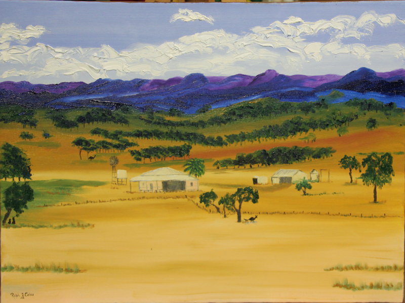 (CreativeWork) IN THE RANGES by Ralph Coles. oil-painting. Shop online at Bluethumb.