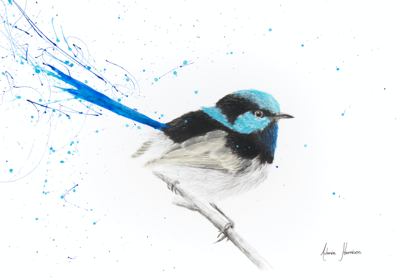 (CreativeWork) Tail in The Rain by Ashvin Harrison. drawing. Shop online at Bluethumb.