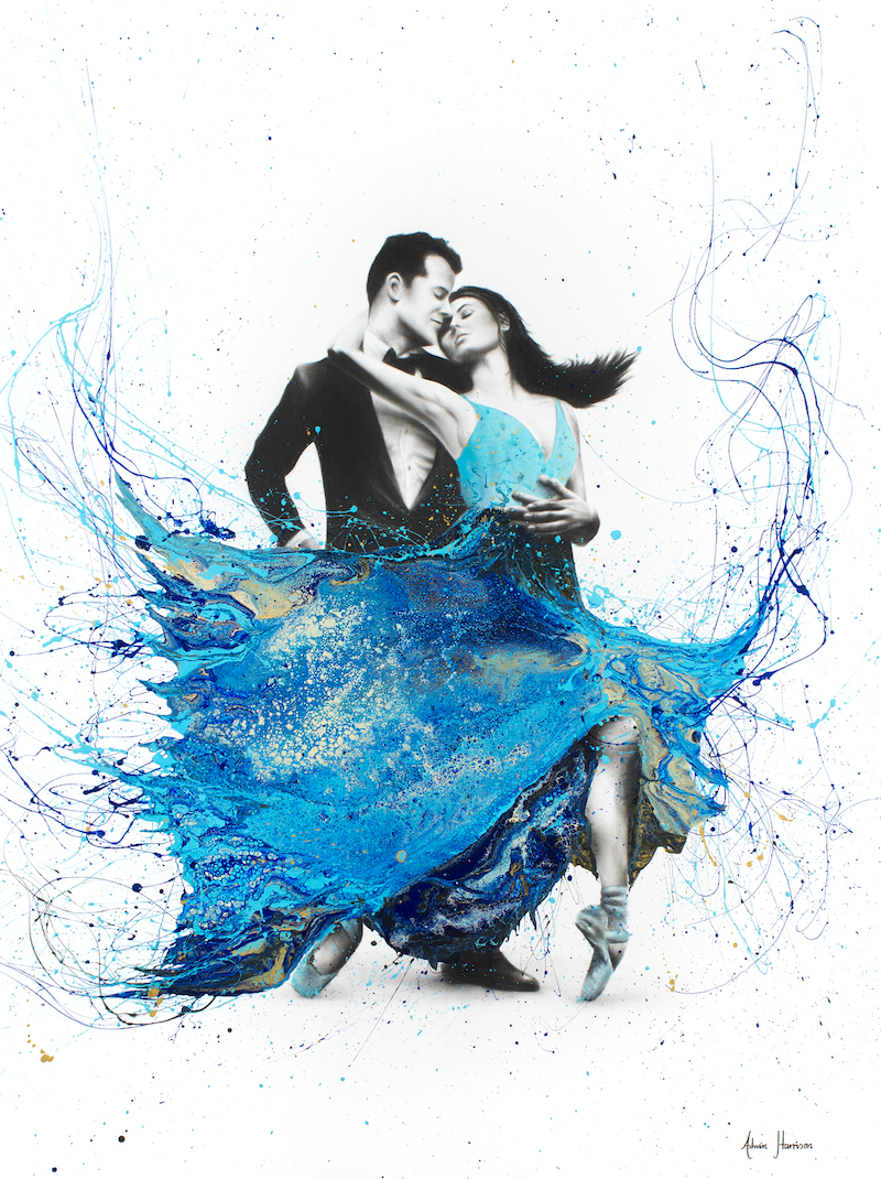 (CreativeWork) The First Dance by Ashvin Harrison. mixed-media. Shop online at Bluethumb.