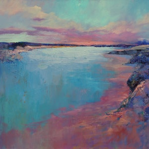 (CreativeWork) STILL WATERS RUN DEEP by Sandra Michele Knight. oil-painting. Shop online at Bluethumb.